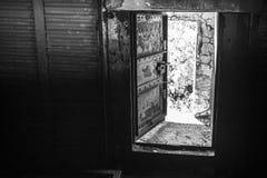Abstract donker grungy industrieel binnenland Stock Afbeeldingen