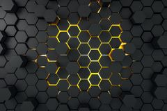 Abstract donker hexagon behang royalty-vrije illustratie