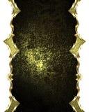 Abstract donker kader met gouden ornamenten Element voor ontwerp Malplaatje voor ontwerp exemplaarruimte voor advertentiebrochure Stock Foto