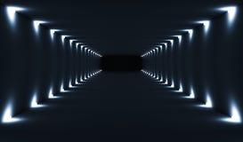 Abstract donker leeg 3d tunnelbinnenland Stock Fotografie