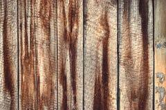 Abstract donker rustiek houten textuurpatroon, bruine doorstane achtergrond Grungy materiële die stuk van het ontwerppatroon van  Royalty-vrije Stock Fotografie
