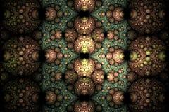 Abstract donker sferisch fractal computer geproduceerd beeld Royalty-vrije Stock Foto
