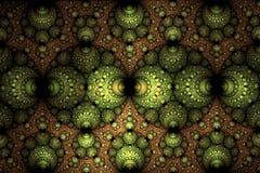 Abstract donker sferisch fractal computer geproduceerd beeld Stock Afbeelding