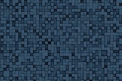 Abstract Donkerblauw 3d Geometrisch Klein Kubus Achtergrondontwerppatroon stock illustratie