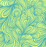 Abstract doodle background  in handmade style marine blue green Royalty Free Stock Photography