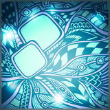 Abstract doodle background with light in blue cyan colors Stock Photo