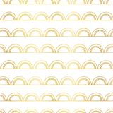 Abstract doodle background seamless gold foil geometric doodle vector background. Golden arches on lines on white. Elegant, Art royalty free illustration