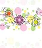 Abstract doodle floral card Royalty Free Stock Images