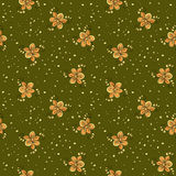 Abstract doodle floral pattern. green backdrop. Abstract doodle floral seamless pattern. green backdrop Royalty Free Stock Photo