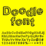 Abstract doodle font Stock Image