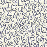 Abstract doodle font seamless pattern Royalty Free Stock Photography