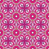 Abstract doodle geometric flowers ethnic seamless design. Festive colorful tiled pattern. Tiled ethnic pattern for fabric. Abstract doodle geometric flowers royalty free illustration