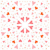 Abstract doodle hearts background. Handmade doodle seamless pattern background. Hand drawn soft red hearts  on stylish cover Royalty Free Stock Photo