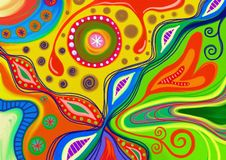 Abstract Doodle Pattern Stock Photography