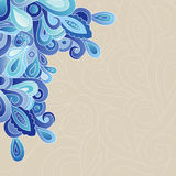 Abstract doodle pattern. Abstract vector pattern from doodles. Blue tones on beige background royalty free illustration