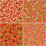 Abstract Doodle Seamless Pattern Set Stock Photo