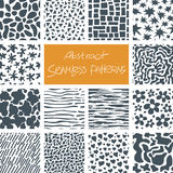 Abstract Doodle Seamless Patterns Set. Set of 14 abstract seamless doodle patterns and textures. Can be used for wallpapers, backgrounds etc. Optimized for easy Royalty Free Stock Photos