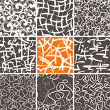 Abstract Doodle Seamless Patterns Set. Set of 9 abstract seamless doodle patterns and textures. Can be used for wallpapers, pattern fills, web page backgrounds Stock Image