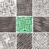 Abstract Doodle Seamless Patterns Set. Set of 9 abstract seamless doodle patterns and textures. Can be used for wallpapers, pattern fills, web page backgrounds Royalty Free Stock Photography