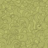 Abstract doodle threads vector seamless pattern. Royalty Free Stock Photo