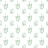 Abstract doodle trees seamless pattern Stock Photos