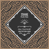 Abstract Doodle vector tribal ethnic style frame Stock Photos