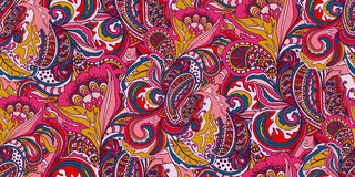 Abstract doodles pattern Royalty Free Stock Image