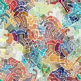 Abstract doodles pattern Royalty Free Stock Photography