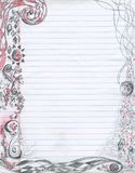Abstract Doodling Note paper Background Stock Image