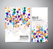 Abstract dot background brochure business design template or roll up. Royalty Free Stock Photo