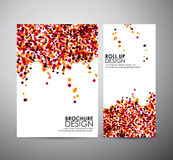 Abstract dot background brochure business design template or roll up. Stock Photos