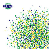 Abstract dot background using Brazil flag colors. Vector illustration Royalty Free Stock Photo