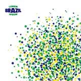 Abstract dot background using Brazil flag colors. Vector illustration stock illustration