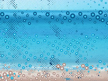 Abstract dot beach background Royalty Free Stock Photo