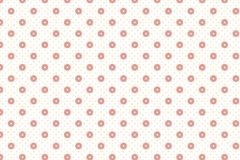 Abstract dot and circle geometric shape pattern with old rose pa. Stel colour for background stock illustration