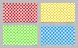 Abstract dot pattern business card background template design set - vector id card illustration with colored circles Stock Photography