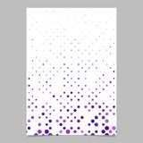 Abstract dot pattern poster design - vector stationery background. With purple toned dots Vector Illustration