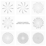 Abstract dot shapes, vector set of design elements Stock Photos
