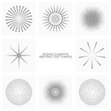 Abstract dot shapes, vector set of design elements Royalty Free Stock Photography