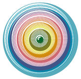 Abstract Doted Circle Eye Background Royalty Free Stock Photography
