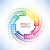 Abstract doted curve shaped and colorful twist shape vector Stock Image