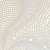 Abstract doted wavy background Royalty Free Stock Photography