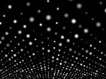Abstract dots background. Landscape or terrain. 3D Illustration Royalty Free Stock Photos