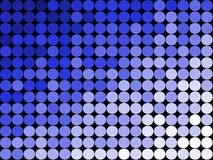 Abstract Dots Background Patte. A series of blue and white circles on a black background Stock Photos