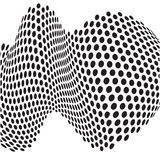 Abstract dots optical art op art background Stock Images