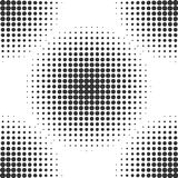 Abstract dotted background. Halftone effect. Vector texture. Modern background. Monochrome geometrical pattern. Circles of points. Royalty Free Stock Photography