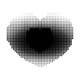 Abstract dotted background. Halftone effect. Vector texture. Modern background.Monochrome geometrical pattern. Strips of points. B Stock Image
