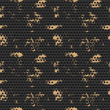 Abstract dotted black metal background. Seamless pattern. Vector illustration Royalty Free Stock Photography