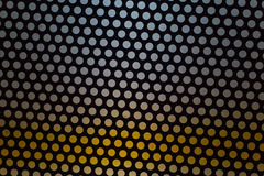 Abstract dotted black and white texture in metal material useful for background Stock Images