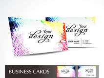 Abstract dotted business card Stock Photos